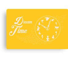 Dream time - Yellow Canvas Print