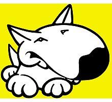 English Bull Terrier Cartoon 3 Photographic Print