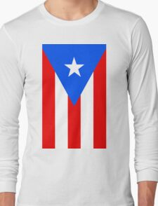 Puerto Rico Flag Banner Long Sleeve T-Shirt