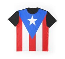 Puerto Rico Flag Banner Graphic T-Shirt