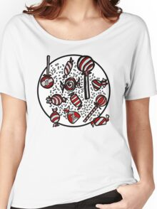 Wrapped Candies in Red Women's Relaxed Fit T-Shirt