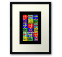 Homage to Andy Warhol  Framed Print