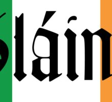Slainte Irish Flag Sticker