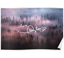 Taylor Swift Autograph (Foggy Forest) Poster