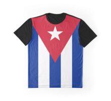 Cuba Flag Banner Graphic T-Shirt