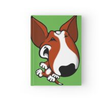 Fun Bull Terrier Cartoon Brown & White Hardcover Journal