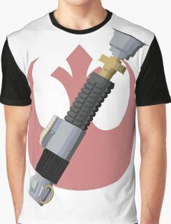 Obi-Wan Kenobi's Lightsaber - Rebel Alliance Graphic T-Shirt