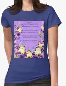 Waltz Of The Flowers Dancing Iris Womens Fitted T-Shirt