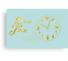 Dream time - gold Canvas Print