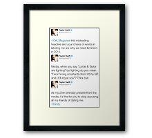 Taylor Sassy Swift Tweets Framed Print