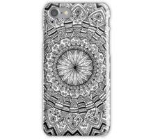 Black and White Original Mandala iPhone Case/Skin