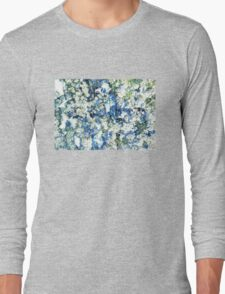 Blue and White Daisies Long Sleeve T-Shirt