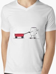 W is for Wagon Mens V-Neck T-Shirt