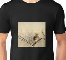 Goun Owl with Early Plum Blossoms Woodblock Print Unisex T-Shirt