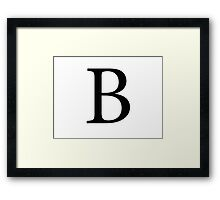 Beta Greek Letter Framed Print