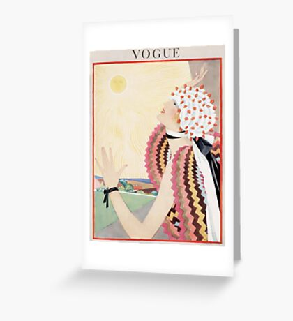 Vogue July 1922 Greeting Card