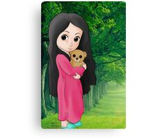 Cute Baby in a Forest Canvas Print