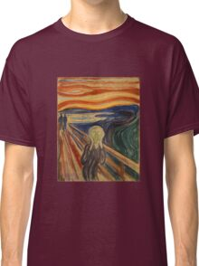 Edvard Munch The Scream Painting Classic T-Shirt