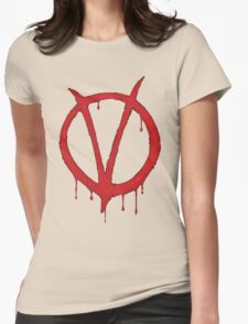 V for Vendetta Tee Womens Fitted T-Shirt