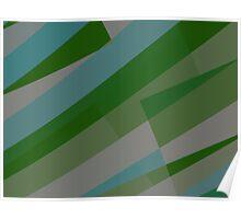 Leopard Zebra Pattern Green Blue Gray Poster