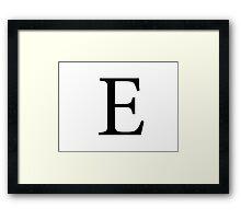 Epsilon Greek Letter Framed Print