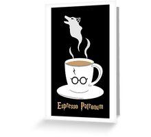 Espresso Patronum - Wolf Greeting Card