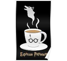 Espresso Patronum - Wolf Poster