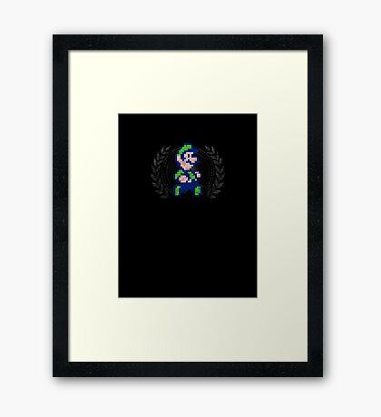 Luigi - Sprite Badge Framed Print