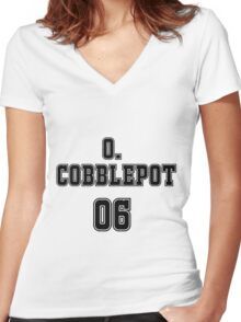 Oswald Cobblepot Jersey Women's Fitted V-Neck T-Shirt