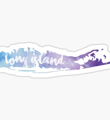 Long Island Water Color Sticker Sticker