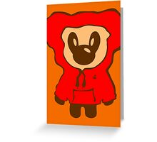 Keinage - Lil Bear (Hoody) Greeting Card