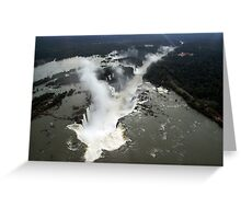 Brazil waterfall Greeting Card