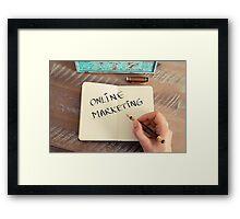 Motivational concept with handwritten text ONLINE MARKETING Framed Print