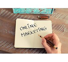 Motivational concept with handwritten text ONLINE MARKETING Photographic Print