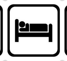 EAT SLEEP HONDA civic JDM type R HRC Sticker