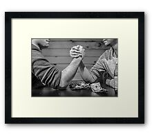 Arm wrestle Framed Print