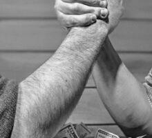 Arm wrestle Sticker