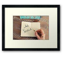 Motivational concept with handwritten text JOB SEARCH Framed Print