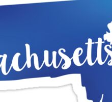 Massachusetts State blue vector Sticker