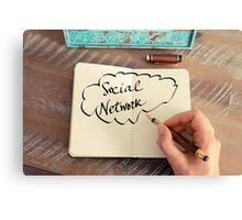 Motivational concept with handwritten text SOCIAL NETWORK Canvas Print