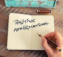 Motivational concept with handwritten text POSITIVE AFFIRMATIONS by Stanciuc