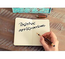 Motivational concept with handwritten text POSITIVE AFFIRMATIONS Photographic Print