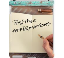 Motivational concept with handwritten text POSITIVE AFFIRMATIONS iPad Case/Skin