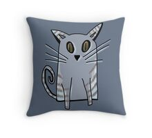Blue Kitten Throw Pillow