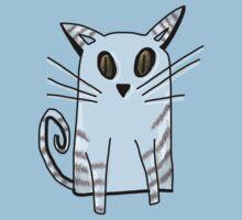 Blue Kitten Kids Tee