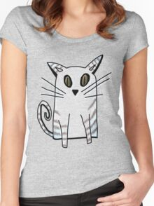 Blue Kitten Women's Fitted Scoop T-Shirt