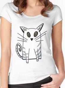 Blue Kitten Women's Fitted Scoop T-Shirt
