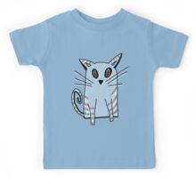Blue Kitten Kids Tee