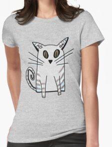 Blue Kitten Womens Fitted T-Shirt