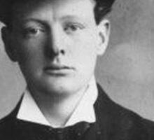 Historical Hipsters - Winston Churchill Sticker